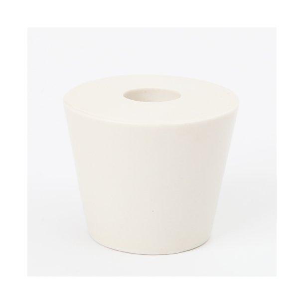 Esther Elisabeth Pedersen - Keramik håndlavet lysestage, hvid