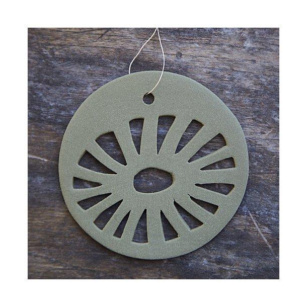 Helle Gram - Keramik ophæng 'daisy' i oliven