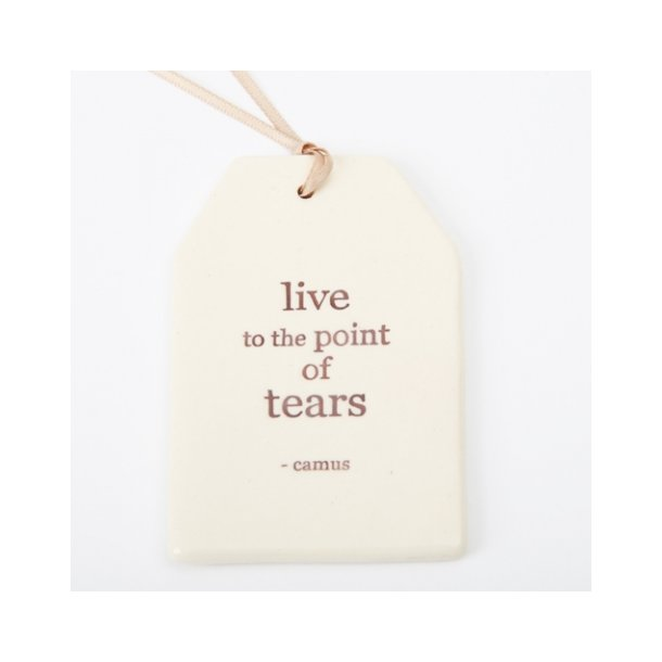 Paper boat press - Quote tag, live to the point of tears