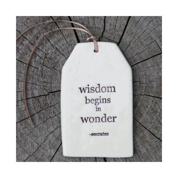 Paper boat press - Quote tag, wisdom begins in wonder (socrates)