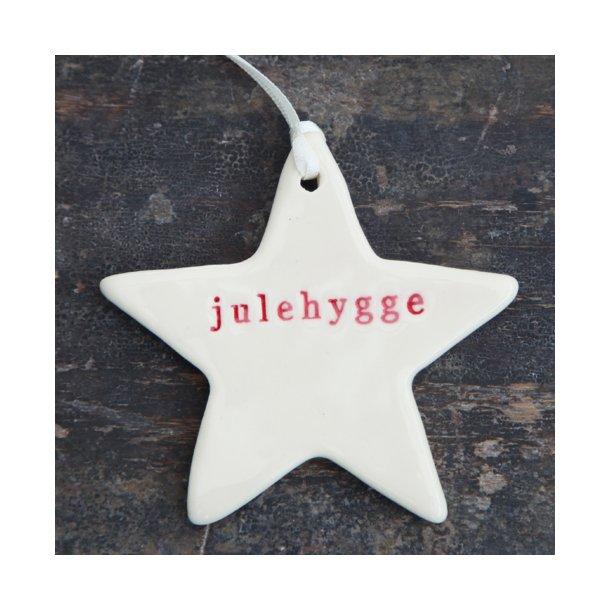 Paper boat press - Julestjerne med ord, julehygge