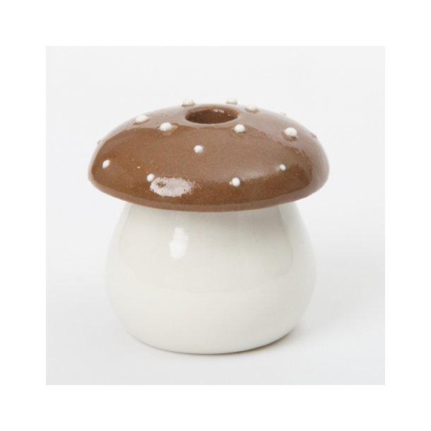 Pi Bjørg - Keramik julepynt, lysestage fluesvampestage, chokolade