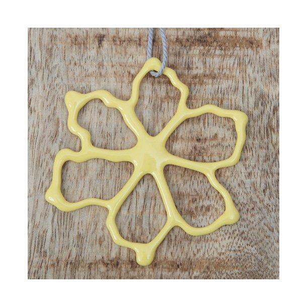 Priip - Keramik håndtegnet blomst, gul