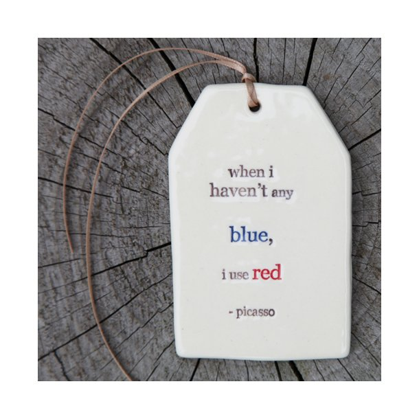 Paper boat press - Quote tag, when i haven't any blue, i use red