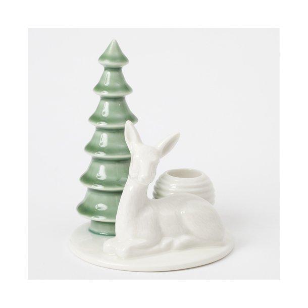 Finnsdottir - Keramik håndlavet lysestage winter stories deer