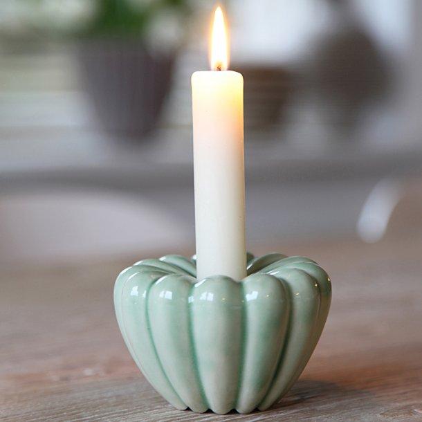 Hanne Bertelsen - Keramik håndlavet rillestage, lysegrøn