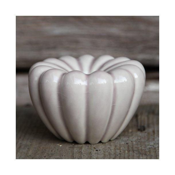 Hanne Bertelsen - Keramik håndlavet rillestage, lys syren