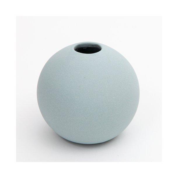 Helle Gram - Keramik håndlavet rund vase, fjordblå