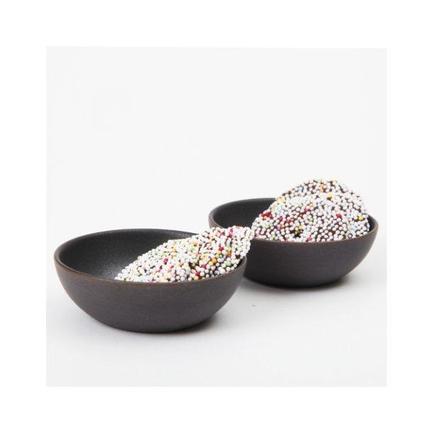 Ditte Fischer - Keramik håndlavet skål tapas lille, sort