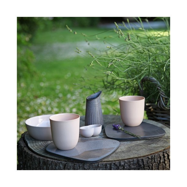Clib Klap - Keramik håndlavet Smørebrik, mørk