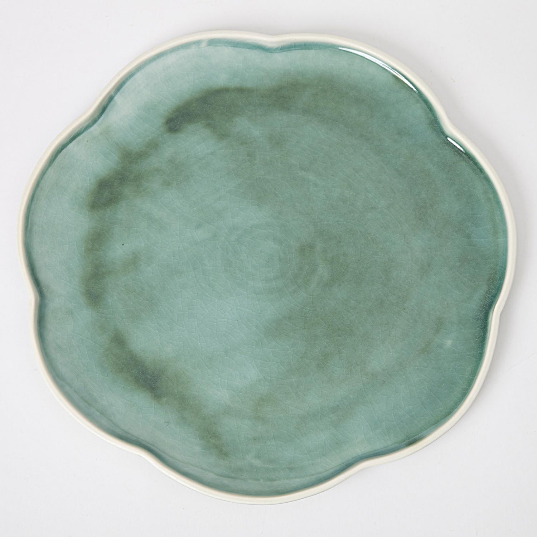 Topmoderne Hanne Bertelsen - Keramik håndlavet middagstallerken, blomst, mørk CA-51