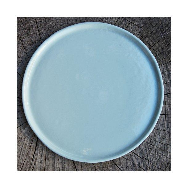 keramik tallerken Line Rønnest   Keramik håndlavet tallerken middag, mint  keramik tallerken