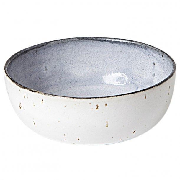 Tasja P. ceramics - Keramik håndlavet skål / morgenmadsskål, hvid, grå, blå