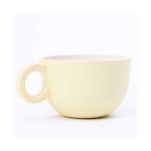 Helle Gram - Keramik chubby kop, Chubby tekop, lys gul