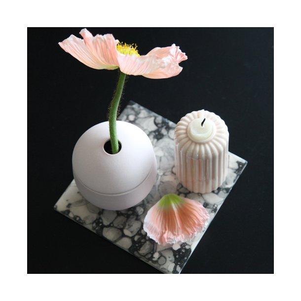 Emma Alington - Keramik håndlavet bræt/flise 'with a twist', sort boblemønster
