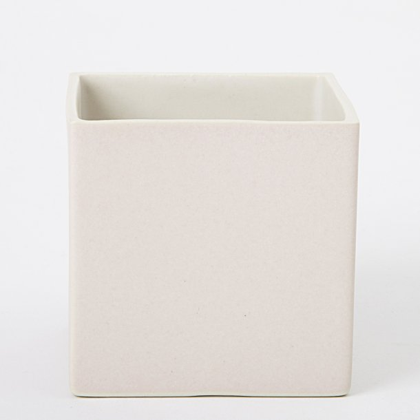 Esther Elisabeth Pedersen - Keramik urtepotte KUBE, pastel lyserød