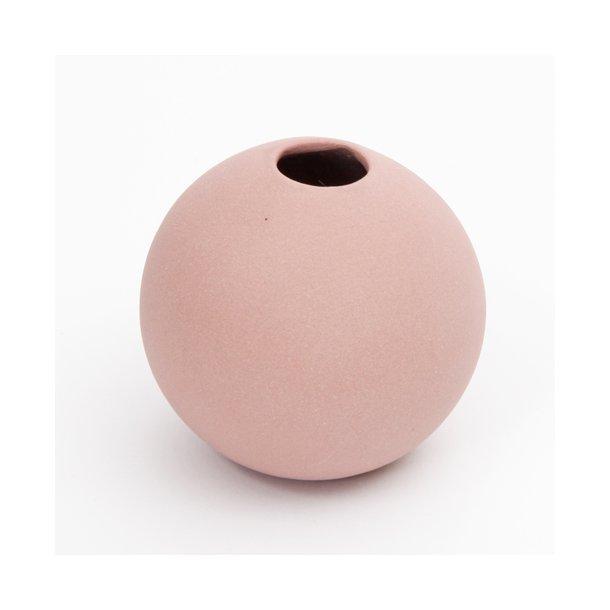Helle Gram - Keramik håndlavet rund vase, kanel