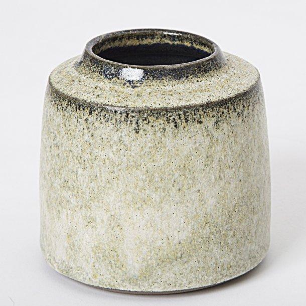 Tina Marie Copenhagen Handmade - Keramik håndlavet vase Timbre grågrøn, lav