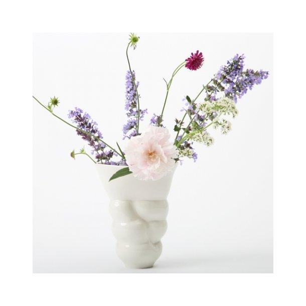 Laila Stenderup - Keramik vase, hvid