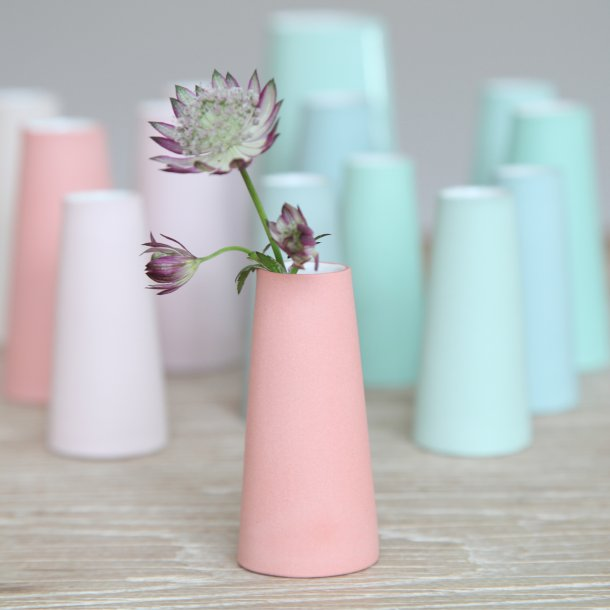 Esther Elisabeth Pedersen - Keramik håndlavet forårsvase lille, koral