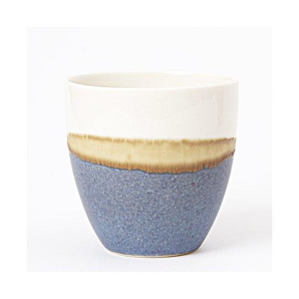 keramik kopper Wauw Design   Keramik håndlavet kop pastello, blå/creme   KOPPER  keramik kopper