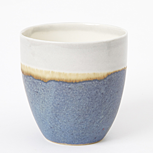 Wauw design ceramic handmade mug pastello blue grey for Handmade mug designs