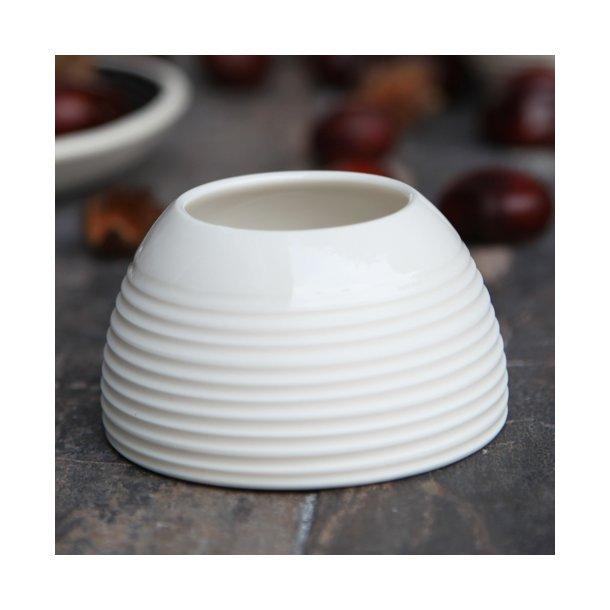 Wauw Design - Keramik håndlavet æggebæger raw, hvid