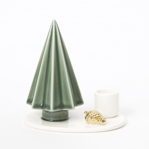 Dottir - Ceramic handmade candlestick winter stories, tree