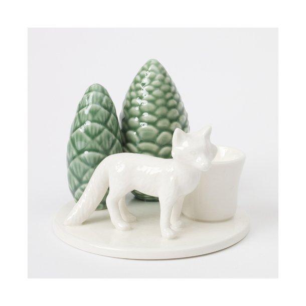 Dottir - Keramik håndlavet lysestage winter stories fox